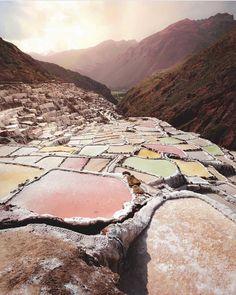 Salt mines of Peru
