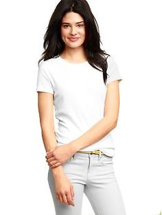 Favorite short-sleeve crew T - Garment washed for everyday softness, more fitted in the chest and sleeve for updated style and easy layering.