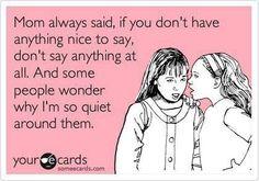 Some People wonder why I'm so quiet around them - Lolzland