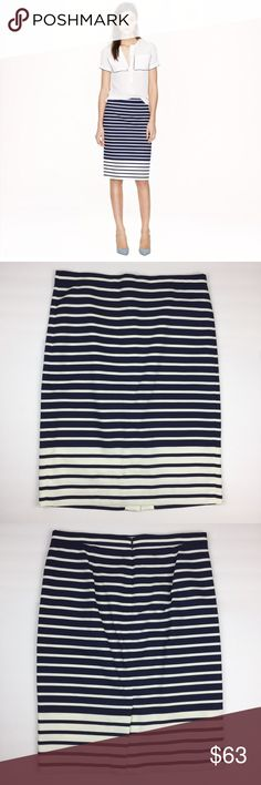 """J. Crew No. 2 Pencil Skirt in Colorblock Stripe New with tag. Perfect for a professional environment. Sits below waist. Length is approx. 23 3/4."""" ❌NO TRADES❌NO PAYPAL❌ J. Crew Skirts Pencil"""