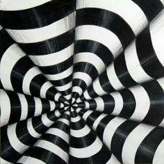 Op art- art that creates optical illusions Illusion Kunst, Illusion Art, Escher Kunst, Op Art Lessons, Art Education Lessons, Opt Art, Illustration, Zentangle Patterns, Zentangles