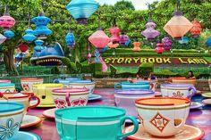 Disneyland Aug 2009 - The Tea Cups and Storybook Land by PeterPanFan, via Flickr