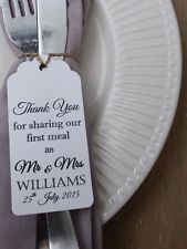 Personalised Wedding Favour Gift Tag