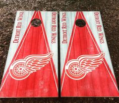 Detroit Red Wings Cornhole Set With Bean Bags
