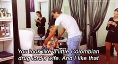 """When he paid her this compliment. 