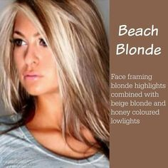 Beach blond highlights