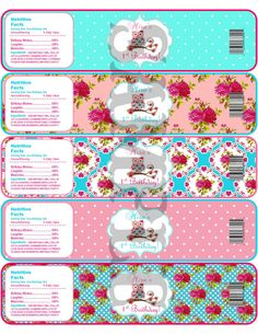 Printable Owl Water Bottle Labels.  Love the nutritional info.