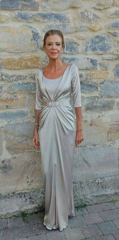 Sheath/Column Scoop Floor-length Elastic silk-like Satin Mother of the Bride Dress Mom Dress, Glamour, Custom Dresses, Dresscode, Mother Of The Bride, Fashion Dresses, Modest Fashion, Marie, Gowns