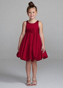 Sweet and very chic, this satin bubble dress will be perfect for you flower girl on your special day! Satin tank bodice features fashion-forward bubble hem and stunning 3D floral detail. Sizes 2T-14. Available in stores and online, Fully lined. Back zip. Imported polyester. Dry clean. Available in our exclusive 20 color palette in stores.A smooth fabric often used in bridal gown design because of its exquisite drape.A smooth fabric often used in bridal gown design because of its exquisite…