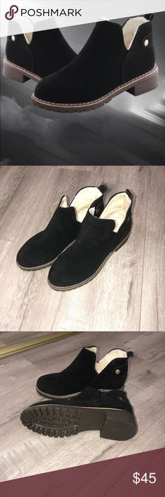 Black Booties brand new! never worn.. fits size 6.5-7 Shoes Ankle Boots & Booties