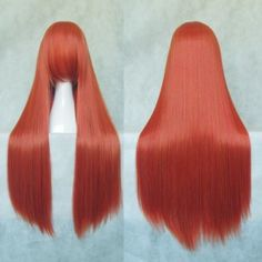 Our cosplay wigs are made of top quality heat resistant fiber. You can shape these wigs with hair curlers, dryers or get without any worry. Choose the right color and length for you, then you can shape and style the wig any way you want. Be your own stylist!Category: