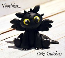 Baby Toothless Caketopper by Naera - great site full of tutorials.