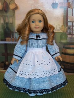 American Girl 1900s Chores Dress & Apron / Clothes by Farmcookies,