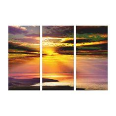 Summertime triptych canvas art print