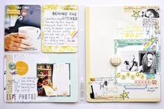 Project Life Layouts by Kasia Tomaszewska Project Life 6x8, Project Life Layouts, Pocket Scrapbooking, Scrapbook Pages, Scrapbooking Ideas, Scrapbook Layouts, Life Page, Paper Crafts, Diy Crafts
