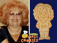 Make your mom's 90th birthday something for the books, with custom cookies by Parker's Crazy Cookies. With beautiful design work and skilled baking, these are the best party favors ever!