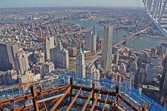 Remember:  never forget!  View from top of one of the twin towers, WTC