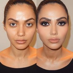 Makeup class transformation, she looks the same but just enhanced. Makeup by me #soniaxfyza #makeupartist #beautyblog
