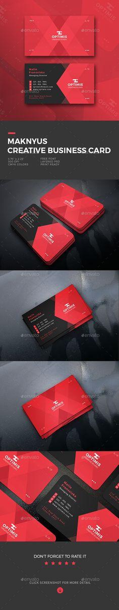Maknyus Creative Business Card - Business Cards Print Templates