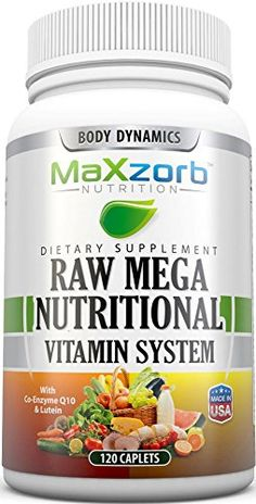 Body Dynamics Raw Mega Nutritional Vitamin System 120 Caplets ** Learn more by visiting the image link. (This is an affiliate link and I receive a commission for the sales)