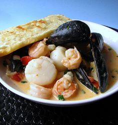 Thai Curry Seafood Bruschetta Recipe on Yummly. @yummly #recipe