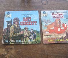 Vintage Disney Davy Crockett Book with Record by MintysMercantile