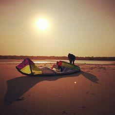 Kite surfing at North Shore Noosa.