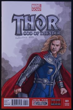 Thor sketch cover by Valentina Comic Art