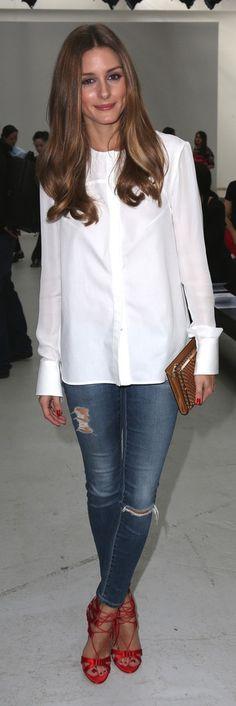 Olivia Palermo - denim simplicity