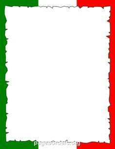 printable italian flag border use the border in microsoft word or other programs for creating