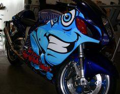 Blu Frog Motocycle Wrap