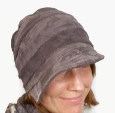 Hemp and Certified Organic Cotton Fleece Hats, dark gray and handmade on Etsy $25.00