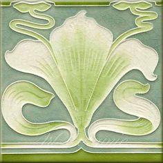 Art Nouveau Reproduction Decorative Ceramic tile 351