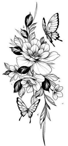 Hip Tattoos Women, Dope Tattoos, Sleeve Tattoos For Women, Leg Tattoos, Body Art Tattoos, Small Tattoos, Feminine Tattoo Sleeves, Feminine Tattoos, Flower Tattoo Drawings