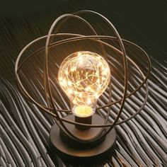 """Atomic Age Led Metal Accent Light, AWESOME Table Desk Lamp For Science Lover. Light up your room or """"laboratory"""" into the long hours of the night by using this atomic led desk lamp Unique Lamps, Unique Home Decor, Creative Lamps, Edison Lighting, Track Lighting, Metal Table Lamps, Atomic Age, Atomic Punk, Onions"""