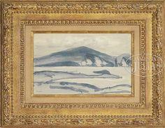 """Minaun Cliffs, Achill Island, Co Mayo, Ireland,"" Robert Henri, 1913, watercolor on paper, 7-3/4 x 12-1/4"", private collection."