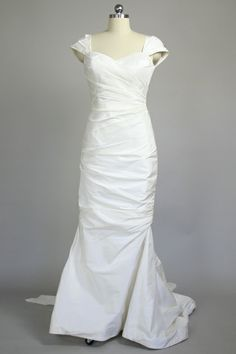 """Lark"" by Amy Kuschel. Draped sheath in silk taffeta that is artistic and modern with a dose of Old Hollywood glamour."