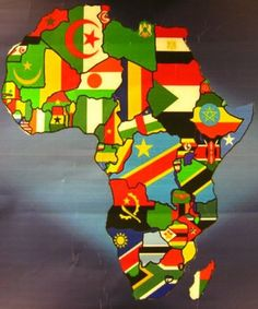 Africa is a continent with 47 different countries. Not all of 'Africa' is the… African American Art, African Art, African Flags, African Animals, African Culture, African History, Out Of Africa, Thinking Day, Flags Of The World