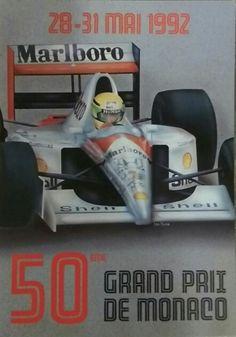 Affiche 50eme grand prix de Monaco 1992