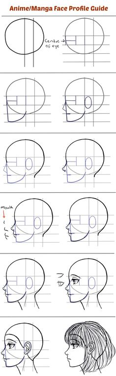 How to Draw the Side of a Face in Manga Style | Profile : how to draw portraits