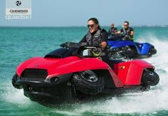 Imported from Detroit: The GIBBS Quadski equally comfortable on land and water. First responder, police, military and leisure applications from $40,000. #quadski