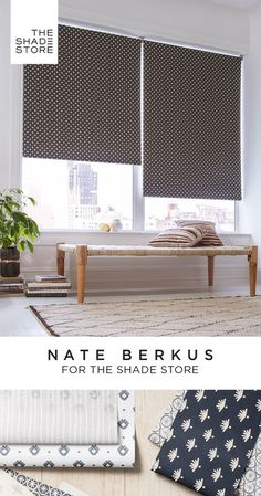 Interior designer Nate Berkus presents an exclusive roller shade collection for The Shade Store®️️. A sophisticated palette of grays, neutrals, and inspired colors, mixed with a breeziness that make them feel effortlessly stylish, no matter what room they land in. Order free swatches or schedule a free professional measurement today.
