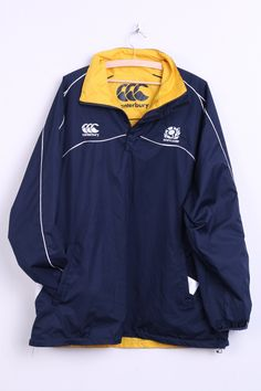 Canterbury Scotland Mens 2XL Jacket Double-Sided Rugby Sport Navy – RetrospectClothes