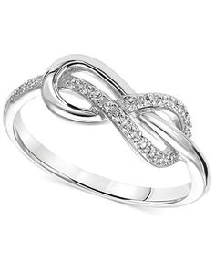 Diamond Accent Infinity Knot Promise Ring in Sterling Silver @cuevasamzaga