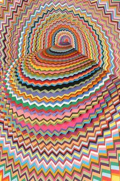 Jen Stark - cut paper artworks