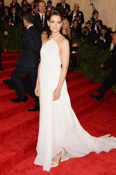 Katie Holmes wears Calvin Klein @ The Met Gala Red Carpet 2013.
