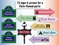 Paris theme party printables paris decor Instant by ReadyForParis Paris Party Decorations, Paris Decor, Paris Theme, Tour Eiffel, Paris Birthday Parties, Paris Poster, Water Party, Thinking Day, Party Printables