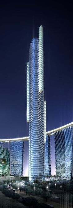 Sky Tower, Abu Dhabi, UAE by Arquitectonica :: 74 floors, height 292m