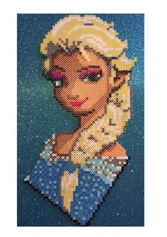 Frozen Elsa Perler Bead Design by RatedEforEveryone