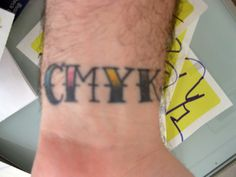 Awesome CMYK old school style tattoo.